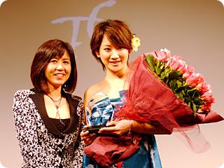 ランコム広報・菊池さんとTCCランコム賞受賞・三浦麻里さん