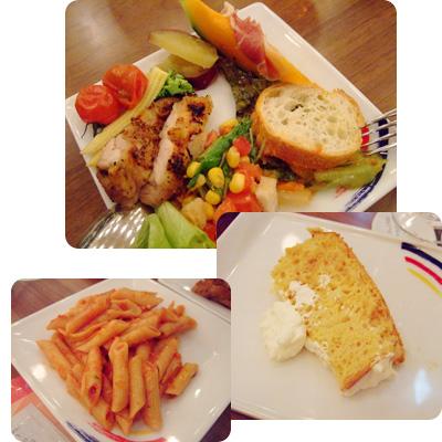ビュッフェタイプのディナー