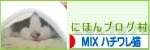 にほんブログ村 猫ブログ MIXハチワレ猫