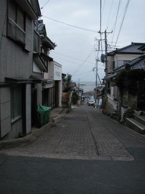 港町の石畳