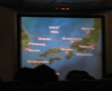 渡航経路地図でアピール