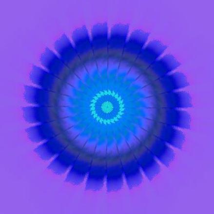 青いひまわり・イラスト万華鏡590