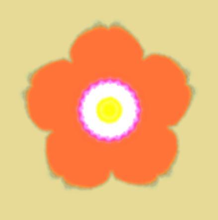 五弁の椿/イラスト万華鏡619