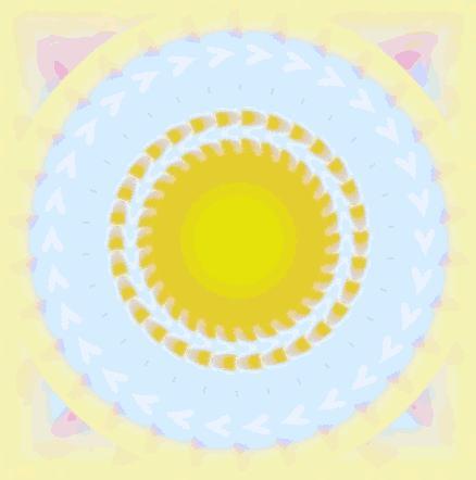 秋色太陽/イラスト万華鏡661