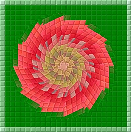 赤い薔薇/イラスト万華鏡663