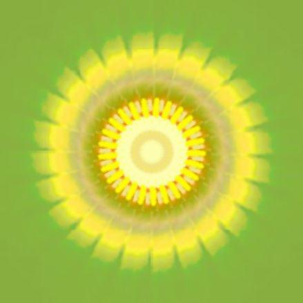 向日葵の太陽・イラスト万華鏡694