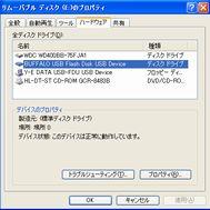 リムーバブルディスク(ハードウェア)画面