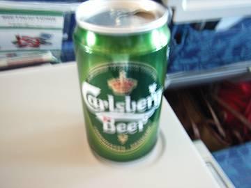 CA機内食ビール
