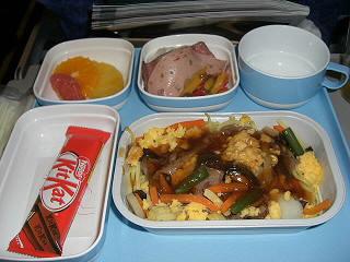 機内食,北京往きメイン