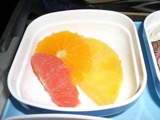 機内食,北京往きフルーツ