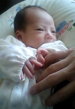パパの手とTsubaki