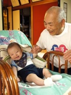 ひいおじいちゃんとTsubaki