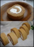 きな粉&黒糖のロールケーキ