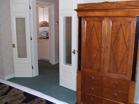 ベットルームのドア