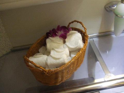 お手拭用のタオル