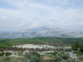 スルジ山の上から見たボスニア・ヘルツェゴビナ