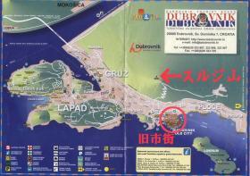 ドブロブニクの地図