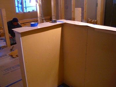 キッチン腰壁