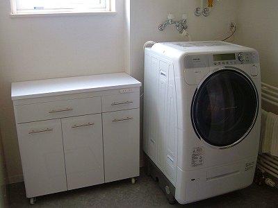 カウンターと洗濯機