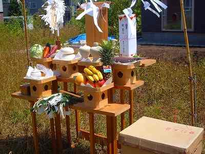 M田家の地鎮祭