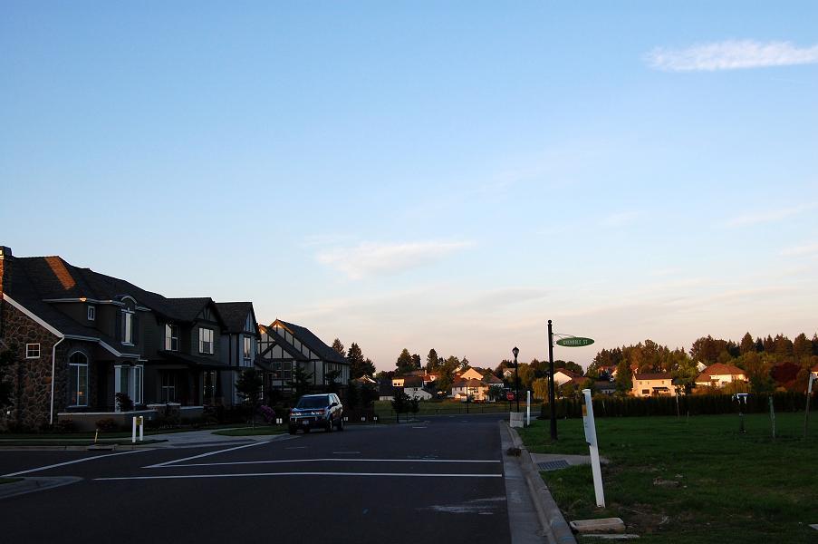 新興住宅地夕暮れ1