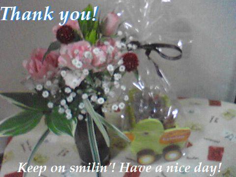 プレゼントまで頂きました~^^ ありがとうございました