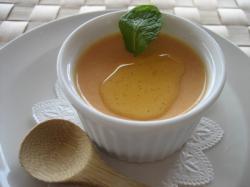 野菜のスイーツ、この日はニンジンとオリーブオイルのプリン(^^)V
