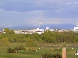 大雪山が見えていました