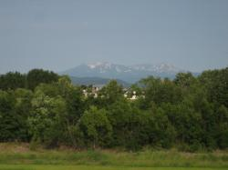 昨日の夕方の大雪山 時間によっても見え方が違います