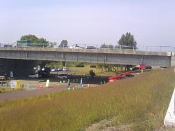 秋月橋は補強工事(?)中