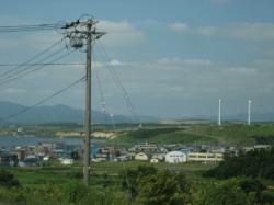 231号線沿いの風力発電