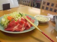 お昼に食べた焼しゃぶ(1人前)