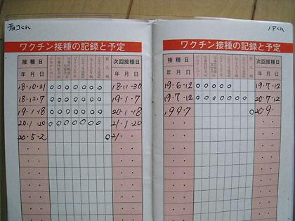 予防接種記録