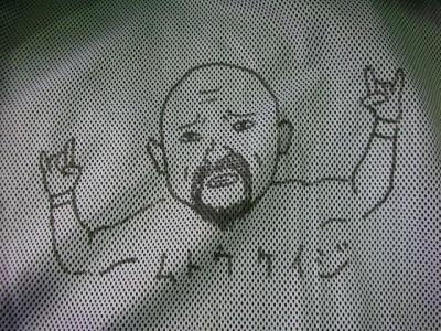 プロレスラー武藤敬司の似顔絵