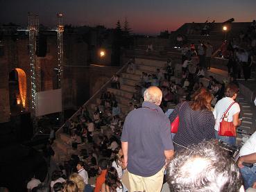 夕日が沈みかけた、ロマイコ・オディオの中