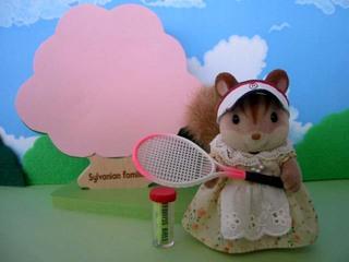 桜とテニス