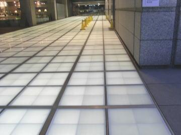 ガラス床材 施工場所