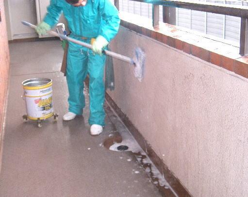 ビル外壁洗浄、マンション共有通路清掃12