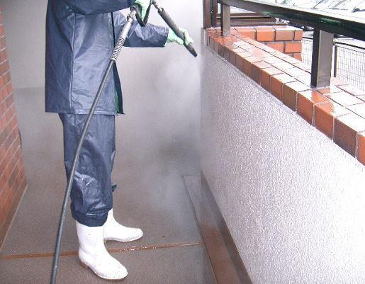 ビル外壁洗浄、マンション共有通路清掃13