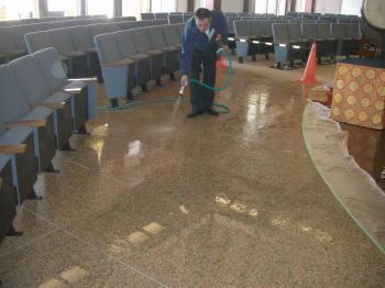 御影石床洗浄清掃2