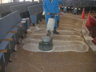御影石床洗浄清掃4
