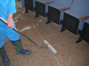御影石床洗浄清掃5