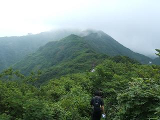 駒ガ岳への尾根道