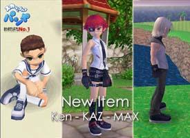 ケン、カズ、マックス、新衣装