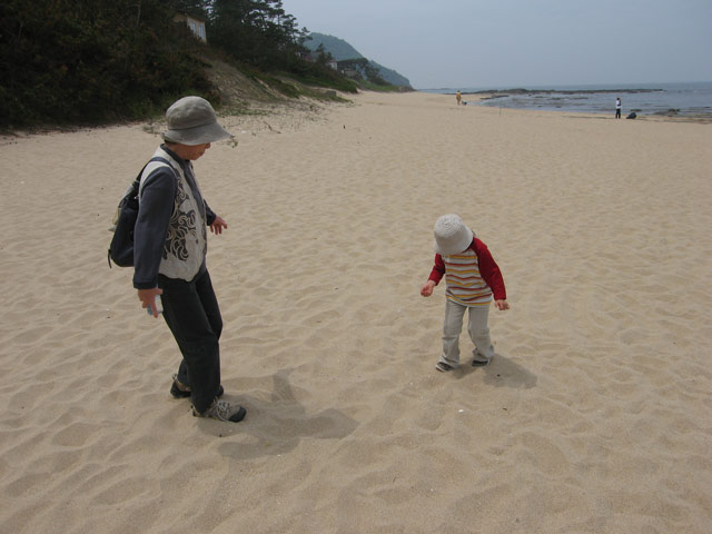 鳴き砂体験