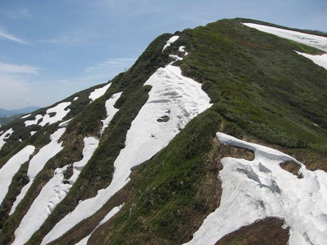 中ノ岳方面