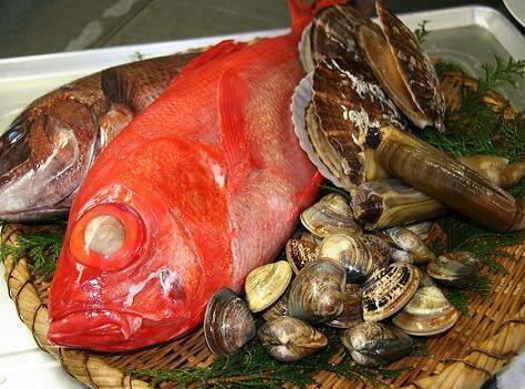 旬の魚介たち