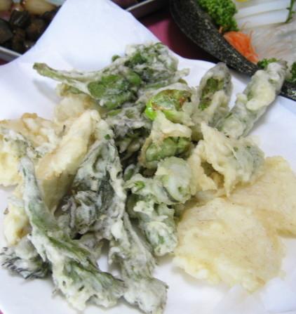 山菜の天婦羅