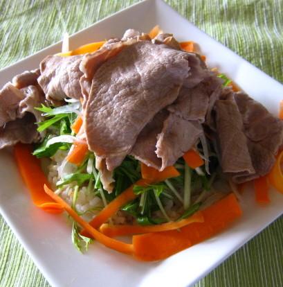 豚しゃぶサラダ丼