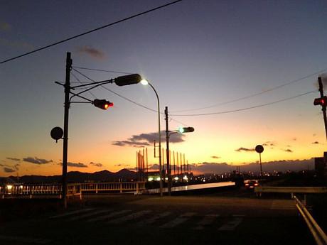 寒い日の夕焼け2